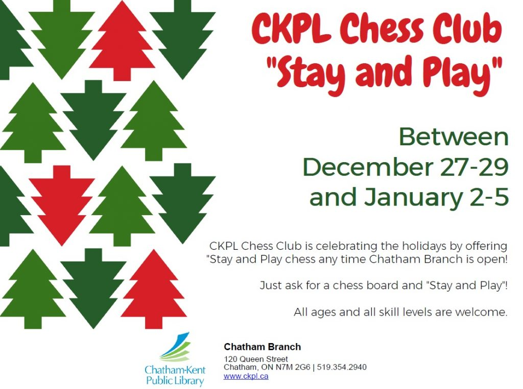 """CKPL Chess Club """"Stay and Play"""" Holidays"""
