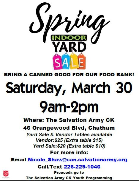 Spring Yard & Vendor Sale