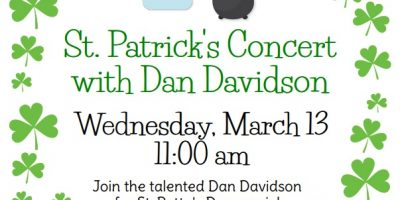 St. Patrick's Concert with Dan Davidson!