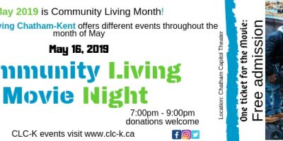 COMMUNITY LIVING MONTH- MOVIE