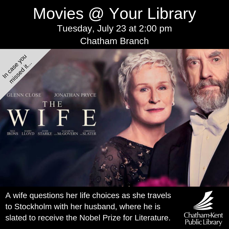 Upcoming Events – Movies @ Your Library – MyCK ca