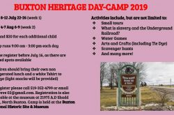 Buxton Heritage Day-Camp